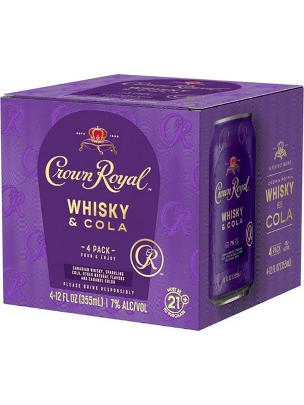 Crown Royal Whiskey Cola Cocktail