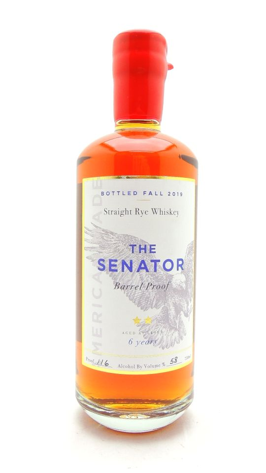 Senator 6 Year Old Barrel Proof Rye Whiskey