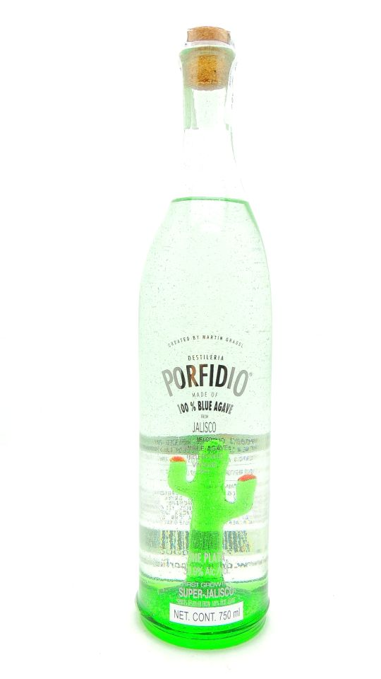Porfidio Tequila Plata Cactus Bottle