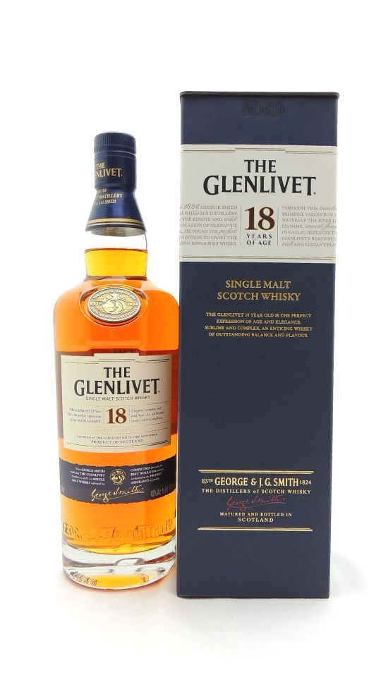 Glenlivet 18 Years Old Scotch 86 Proof