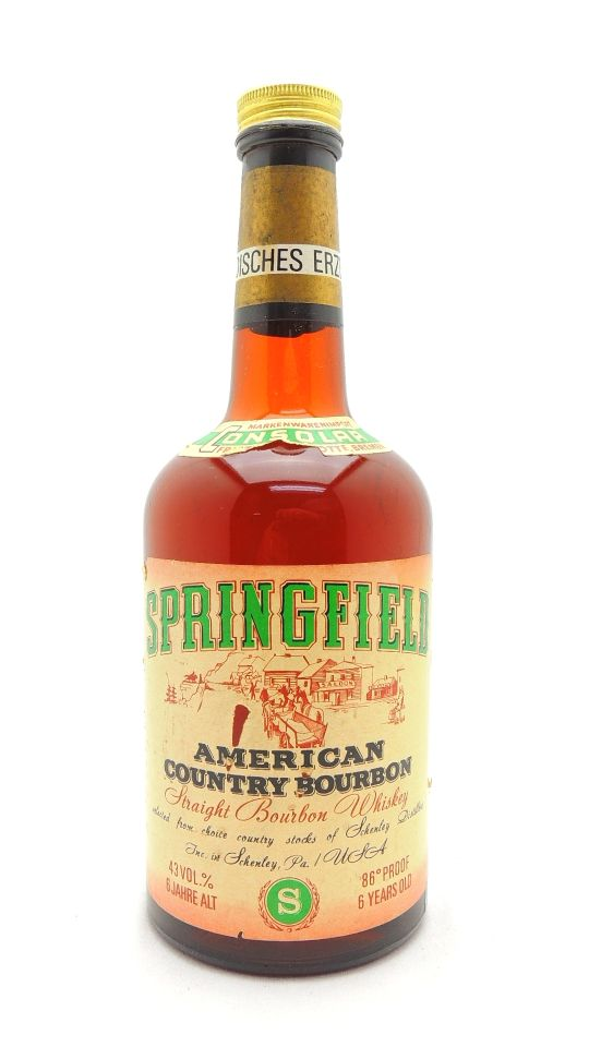 Springfield Bourbon Whiskey 6 Year Old Schenley