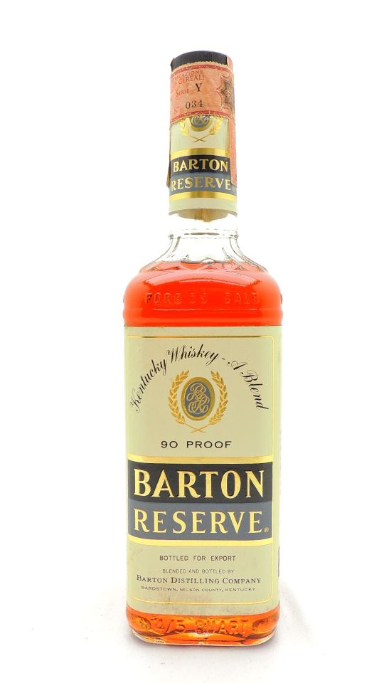 Barton Reserve Whiskey Vintage Bottle