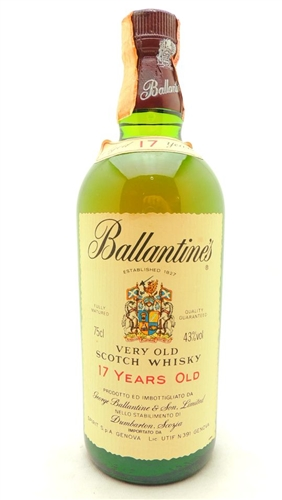 Ballantines 17 Year Old Scotch Vintage