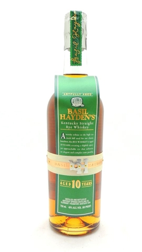 Basil Hayden's 10 Year Old Rye Whiskey
