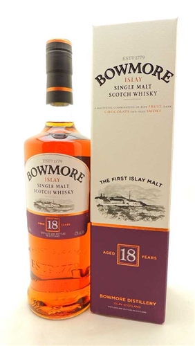 Bowmore Scotch 18 Year Single Malt Scotch