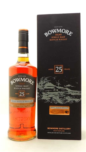 Bowmore Scotch 25 Year Single Malt Scotch