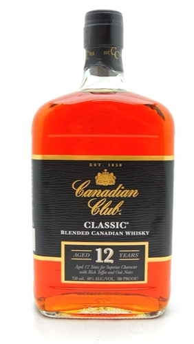 Canadian Club Classic 12 Year Old Whiskey