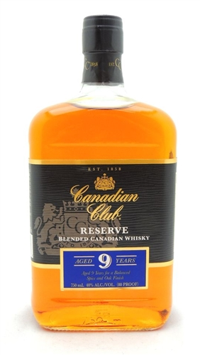 Canadian Club Reserve 9 Year Old Whiskey