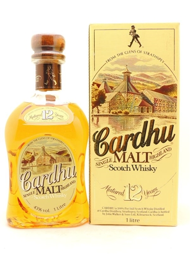 Cardhu Single Malt Highland Scotch Liter by Johnnie Walker
