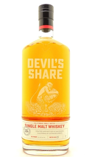 Devil's Share Whiskey by Cutwater Spirits