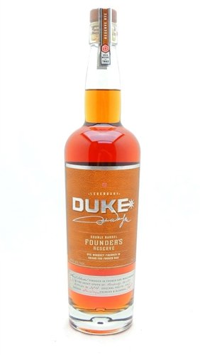 Duke Double Barrel Founder's Reserve Rye Whiskey