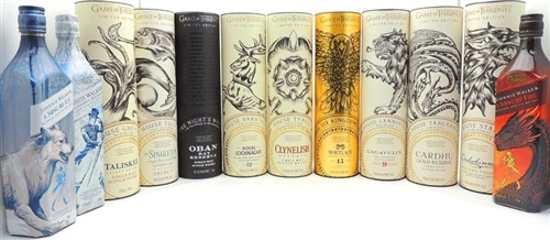 Games of Thrones Complete Diageo Scotch Collection