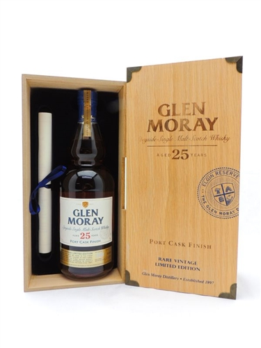 Glen Moray 25 Years Old Single Malt Scotch
