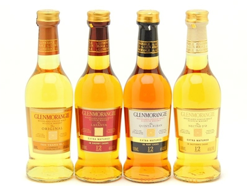 Glenmorangie 10 Year 12 Year Original Lasanta Nectar d or Quinta Ruban Highland Single Malt Scotch Whisky Set