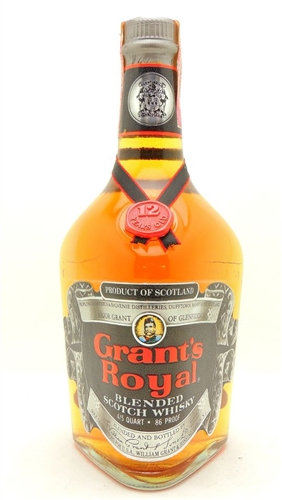 Grant's Royal Scotch 12 Years Old Vintage 4/5 Quart