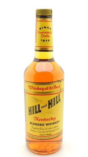 Hill and Hill Whiskey