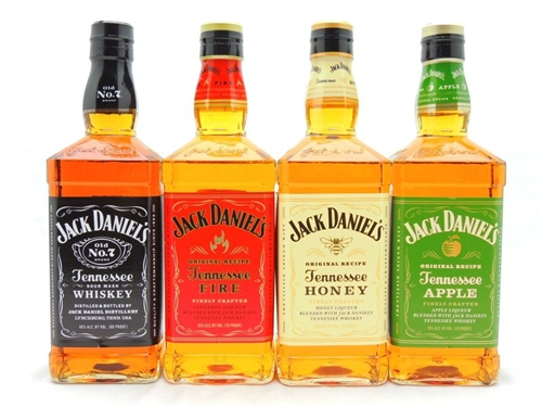 Jack Daniels Whiskey Rainbow collection