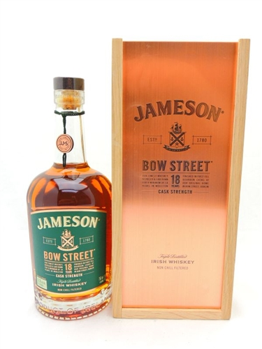 Jameson Bow Street 18 Years Old Cask Strength Irish Whiskey