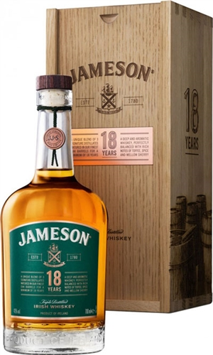 Jameson 18 Years Old Irish Whiskey