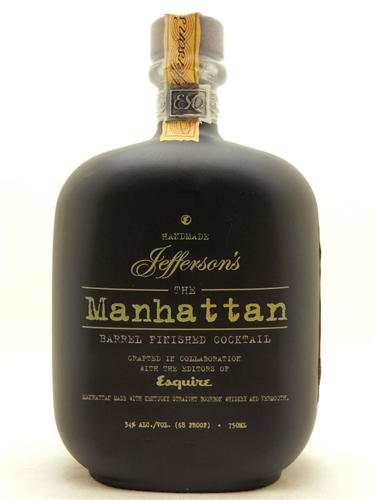 Jefferson's Manhattan Bourbon Whiskey Cocktail
