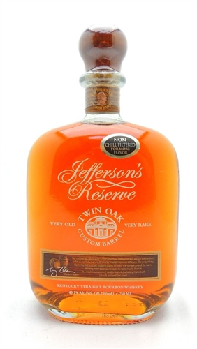 Jefferson's Reserve Twin Oak Bourbon Whiskey