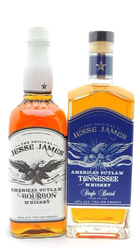 Jesse James Bourbon Whiskey Collection
