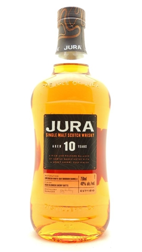 Jura Scotch 10 Year Old Single Malt Scotch