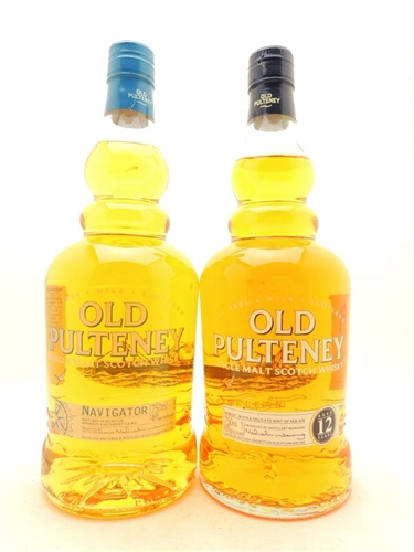 Old Pulteney 12 Years Scotch and Old Pulteney Navigator Single Malt Scotch Whisky