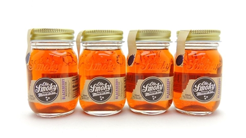 Ole Smoky Blackberry Moonshine Four Miniatures