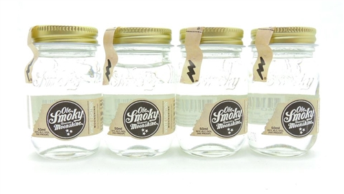 Ole Smoky White Lightning Moonshine Four Miniatures