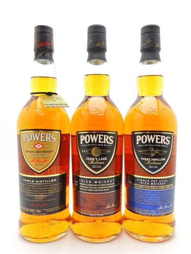 Powers Irish Whiskey Collection