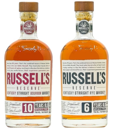 Russells Reserve Bourbon Rye Whiskey Collection