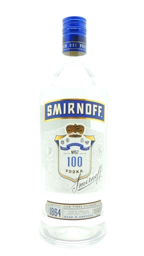 Smirnoff Blue 100 Proof Vodka Half Gallon