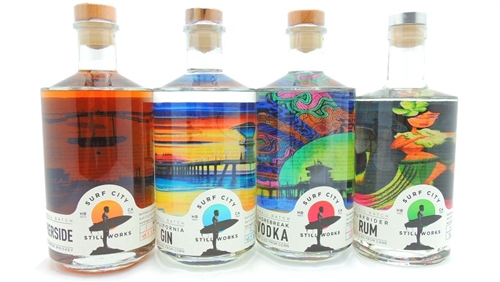 Surf City Still Works Collection Bourbon Gin Vodka