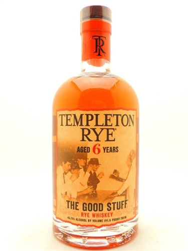 Templeton Rye Whiskey 6 Years Old