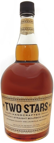 Two Stars Bourbon Whiskey Half Gallon