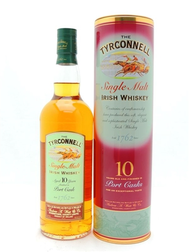 Tyrconnell Whiskey 10 Year Old Port Cask Finish Single Malt Irish Whiskey