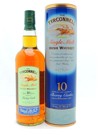 Tyrconnell Whiskey 10 Year Old Sherry Cask Finish Single Malt Irish Whiskey