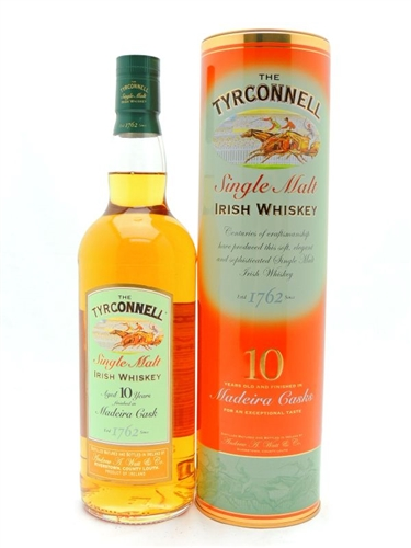 Tyrconnell Whiskey 10 Year Old Madeira Cask Finish Single Malt Irish Whiskey