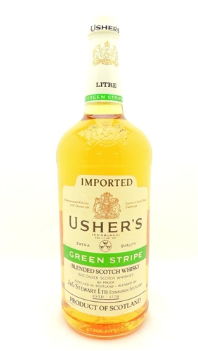 Usher's Green Stripe Scotch Liter
