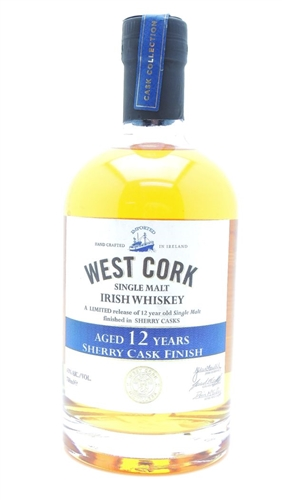West Cork 12 Year Old Sherry Cask Finish Irish Whiskey