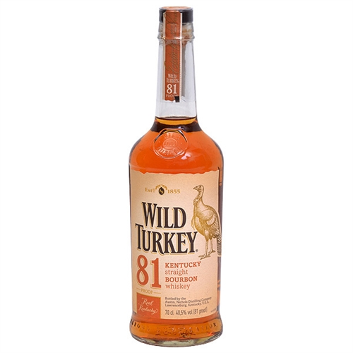 Wild Turkey Bourbon Whiskey 81 Proof