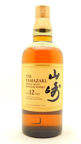 Yamazaki Whiskey 12 Year Old Single Malt Whiskey