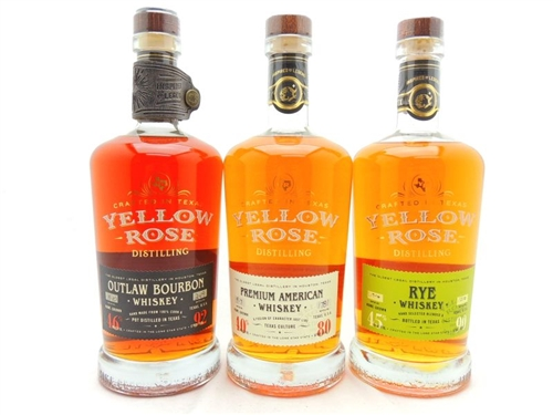 Yellow Rose Bourbon Whiskey Collection