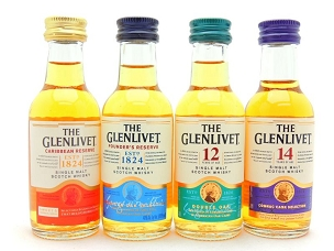 Glenlivet Miniature Scotch Gift Set