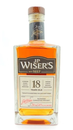 JP Wisers Whiskey 18 Years Old Canadian Whiskey