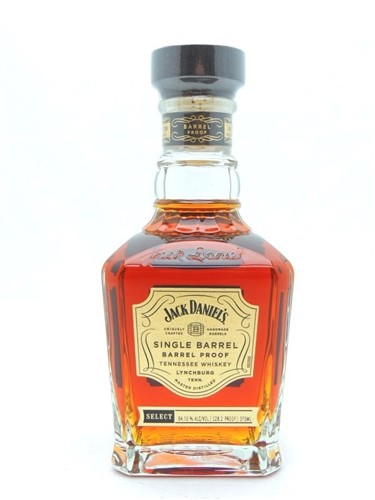 Jack Daniels Barrel Proof Single Barrel Whiskey Pint 375 ML