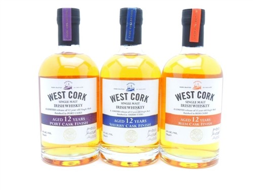 West Cork 12 Year Old Irish Whiskey Collection