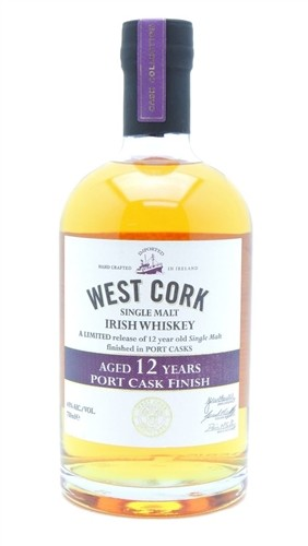 West Cork 12 Year Old Port Cask Finish Irish Whiskey